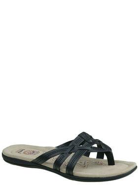 New Men's Sport Casual Flip Flops Faux Leather & Fabric Thong Sandals sz 7 - 12