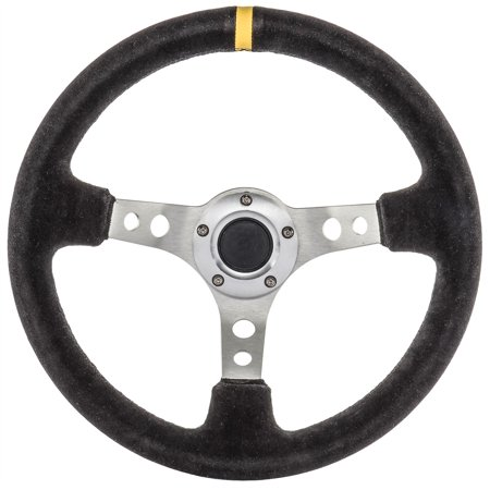 JEGS Performance Products 70430 Steering Wheel 13.5 Diameter 3-Spoke 3 Deep Dish Deep Dish Bullitt Wheel