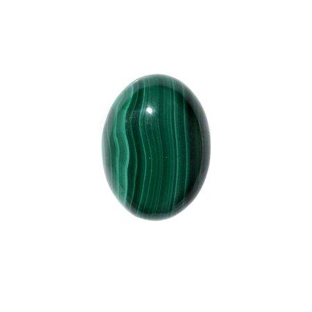 Malachite Gemstone Oval Flat-Back Cabochons 18x13mm (1