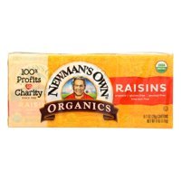 Newman's Own Organics Raisins - Case of 12 - 6/1.0 OZ