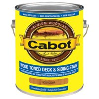 CABOT 140.0019202.007 Exterior Stain,Cedar,Toned Flat,1 gal.