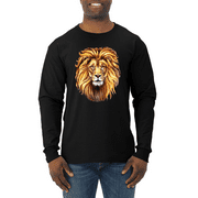 Golden East African Lion Animal Lover Mens Long Sleeve Shirt