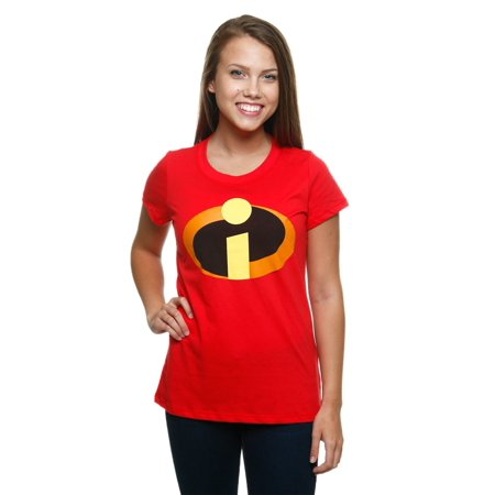 d0c26a7b Mighty Fine - Womens Incredibles Logo T-Shirt - Walmart.com