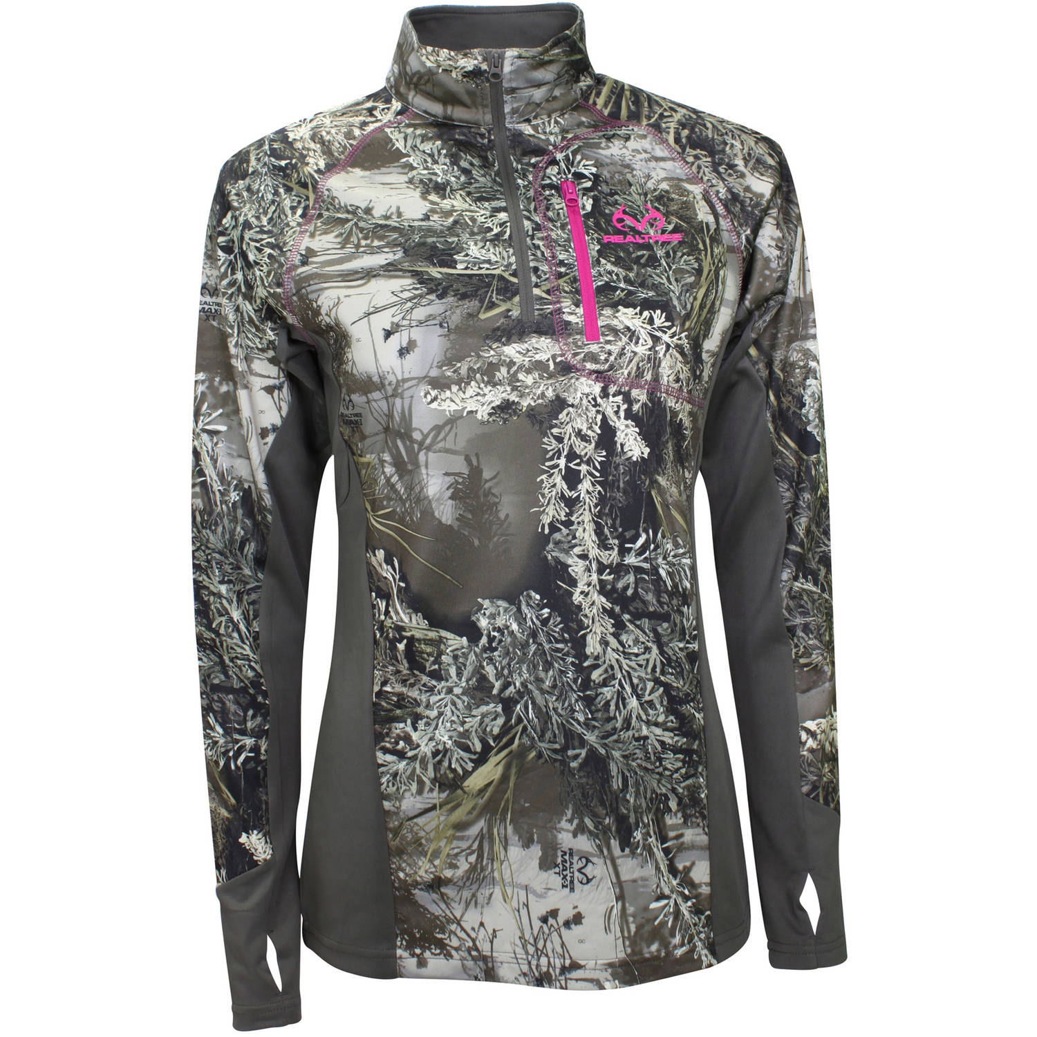 REALTREE LDS QTR ZIP - REALTREE MAX-1 XT