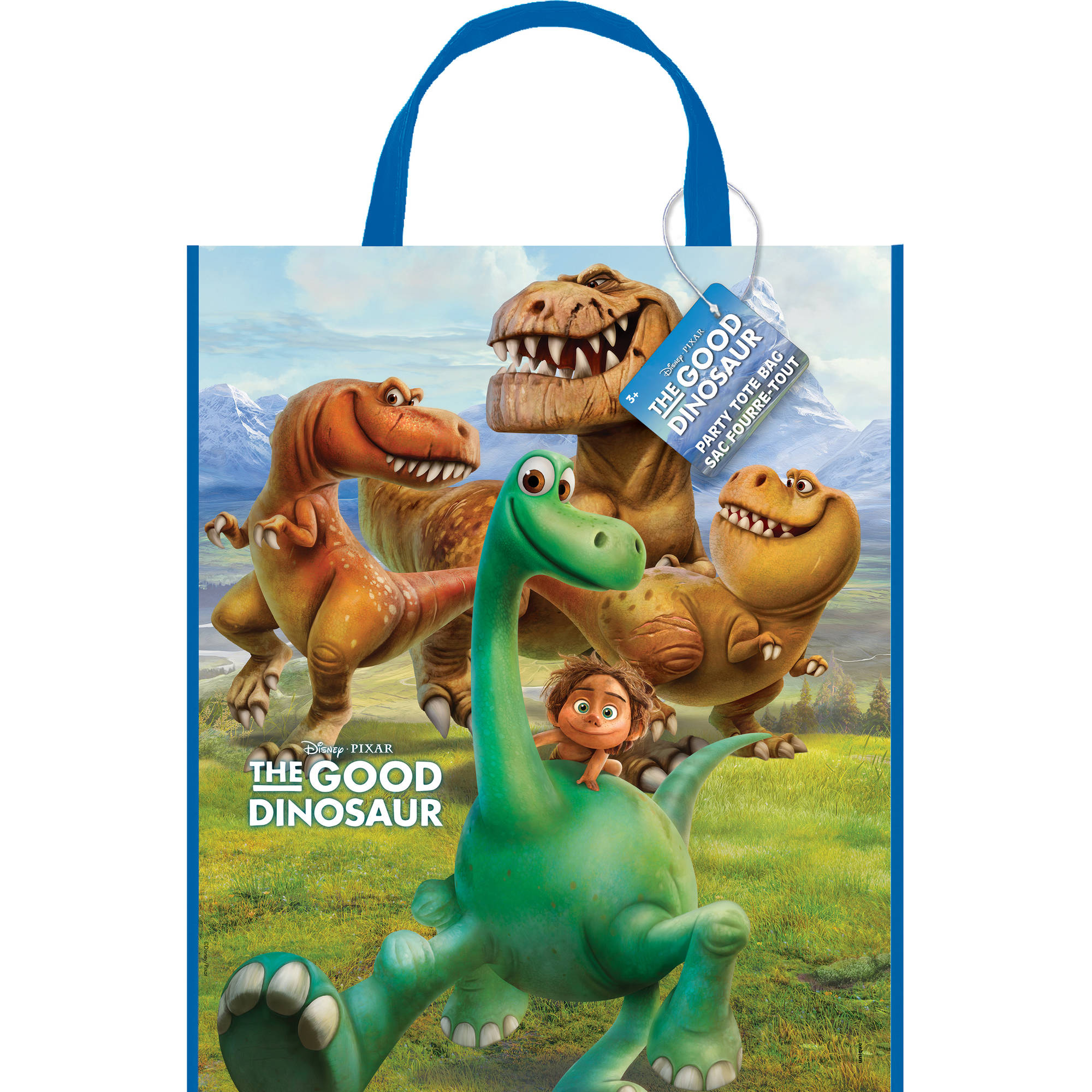 "Large Plastic Good Dinosaur Favor Bag, 13"" x 11"""