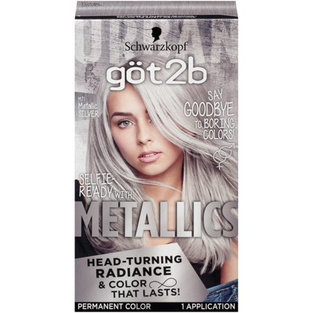 Got2b Metallic Permanent Hair Color, M71 Metallic Silver - Silver Hair Paint