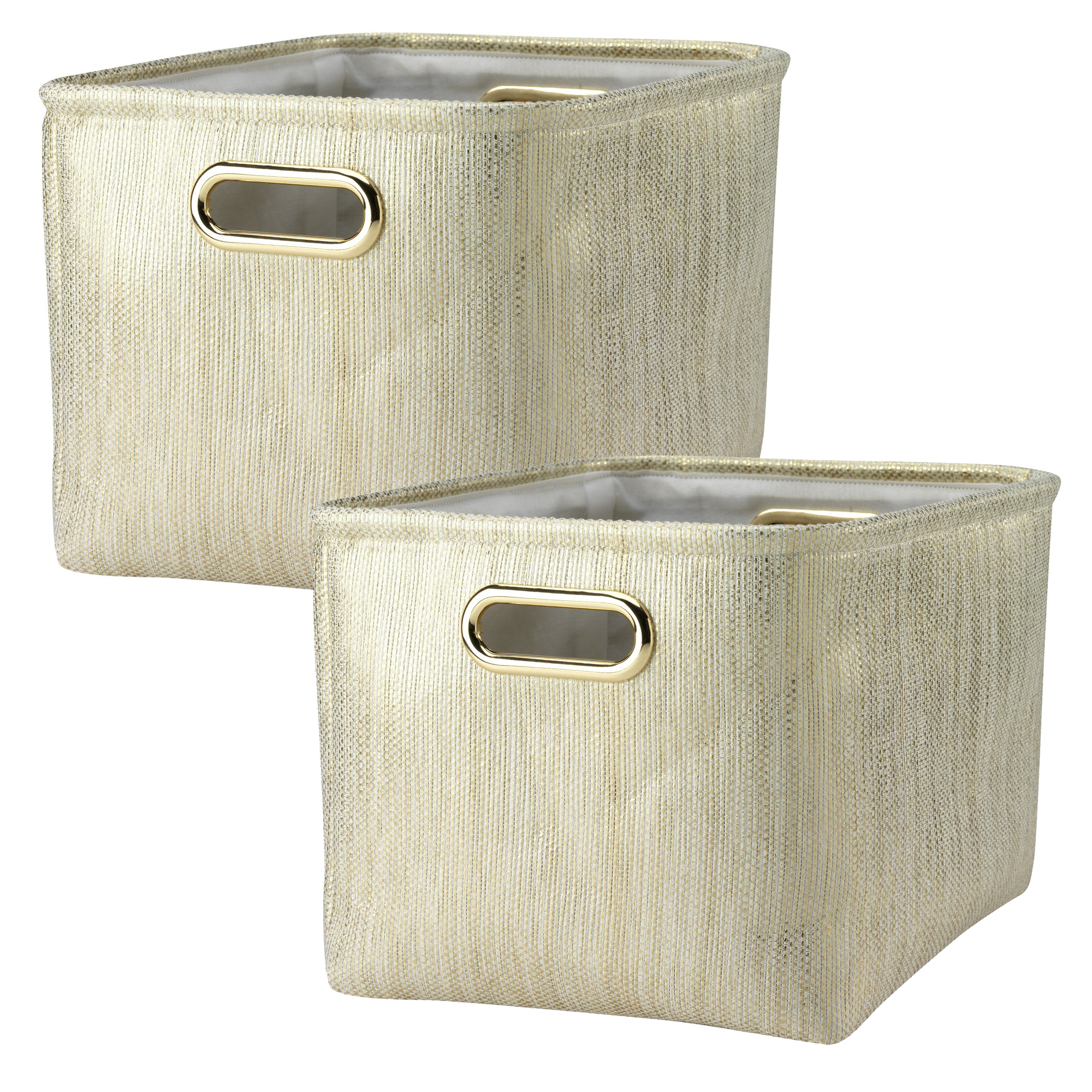 Lambs & Ivy Metallic Gold Storage Basket - 2 Pack