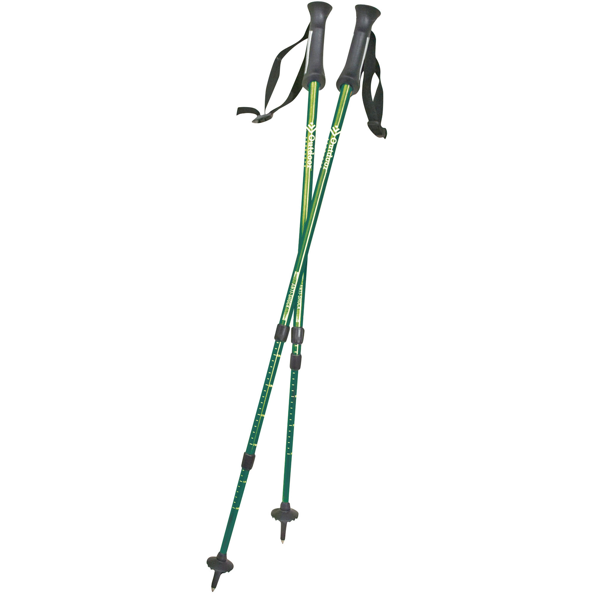 Click here to buy Outdoor Products Apex Trekking Pole Set, Lime by Generic.