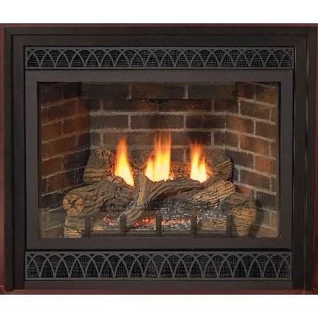 "Deluxe 36"" Direct-Vent NG Millivolt Fireplace"