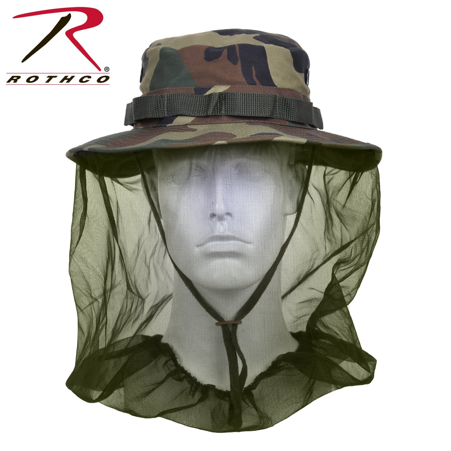 Rothco Boonie Hat With Mosquito Netting - Woodland Camo   Olive Drab d37f068d0c2