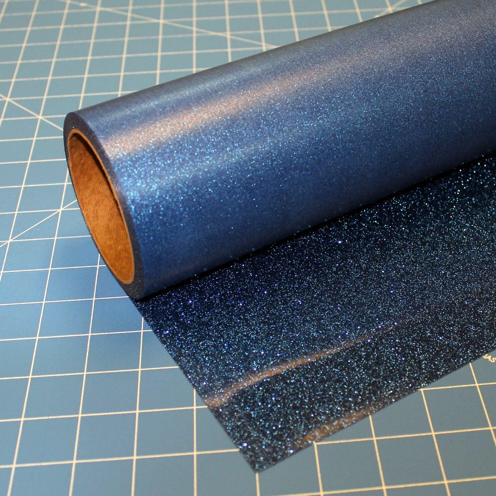 """Blue Glitterflex Ultra 19.5"""" x 3' Roll Glitter, Heat Transfer Vinyl, HTV"""