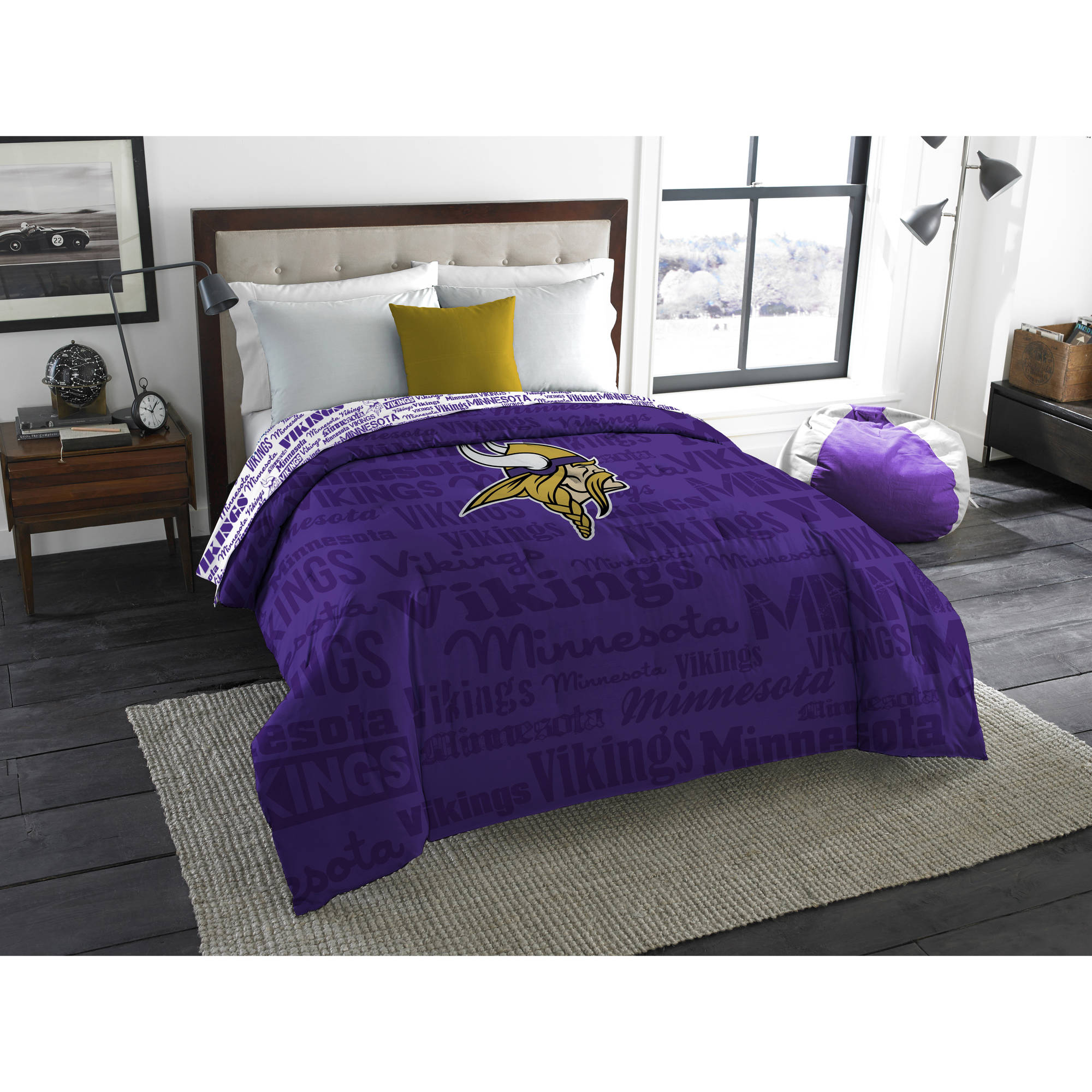 "NFL Minnesota Vikings ""Anthem"" Twin/Full Bedding Comforter"