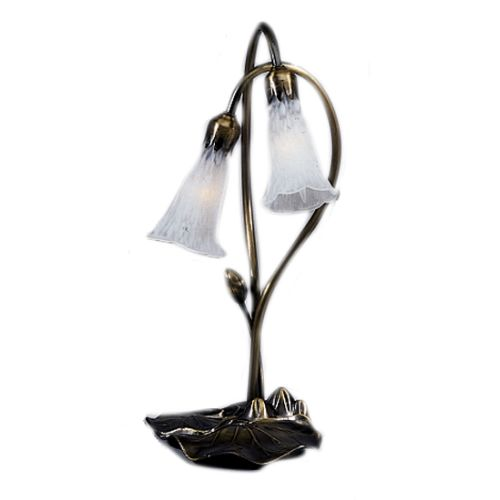 Meyda Tiffany 14654 Stained Glass   Tiffany Desk Lamp from the Lilies Collection by Meyda Tiffany