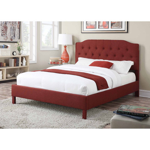 ACME Furniture Clive Upholstered King Bed, Red
