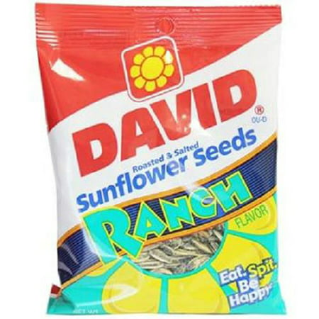 Flavored Sunflower Seeds (Product Of David, Sunflower Seeds Ranch , Count 12 (5.25 oz) - Sunflower Seeds / Grab Varieties & Flavors )