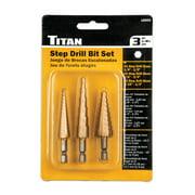 Titan Tools 16503 3 Piece Step Drill Set