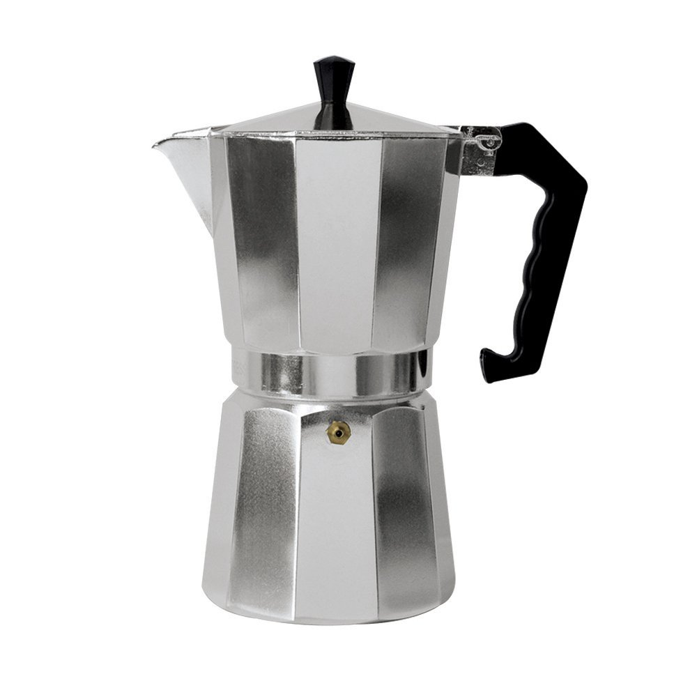 Aluminum Espresso Maker Aluminum For Bold, Full Body Espresso � Easy to Use � Makes 9 Cups, Ship from... by