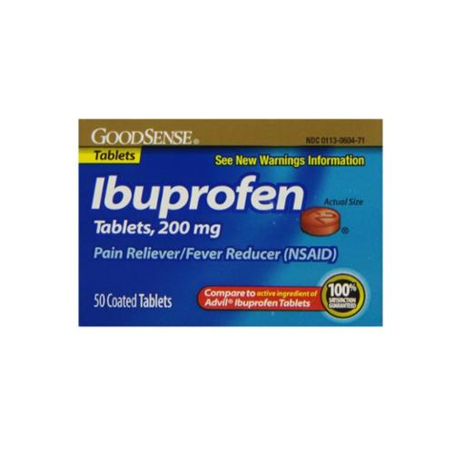 Good Sense Ibuprofen Pain Reliever/Fever Reducer Tablets 200 mg 50 ea (Pack of 3)