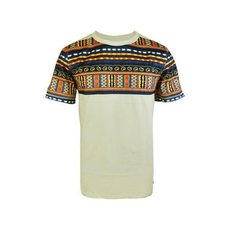 - Oakbay Men's Hip Hop Dashiki Print Tee Shirts Taos Taupe 1200115