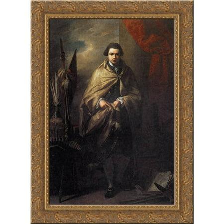 Sir Joseph Banks 24X18 Gold Ornate Wood Framed Canvas Art By Benjamin West