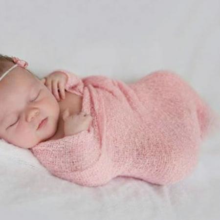 Stretch Knit Wrap Top - Newborn Baby Photography Props Blanket Rayon Stretch Knit Wraps 40*150cm