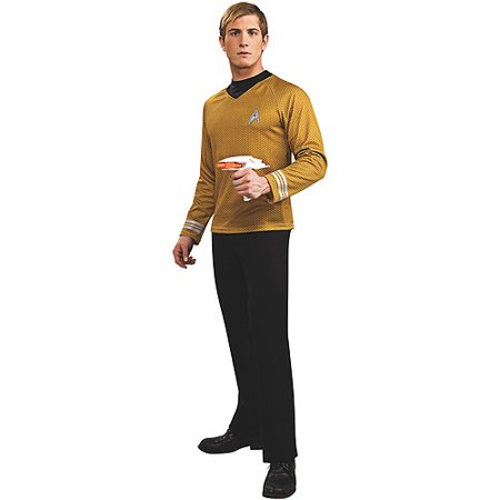 Star Trek Adult (2009 Movie) Deluxe Gold Shirt Costume](Movie Star Costume)