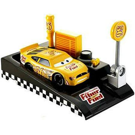 Pit Row Race (Disney Cars Pit Row Race-Off Fiber Fuel No. 56 Diecast Car [Includes Launcher] )