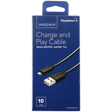 - Insignia - 10ft Charge-and-Play Micro USB Cable for DUALSHOCK 4 Controllers