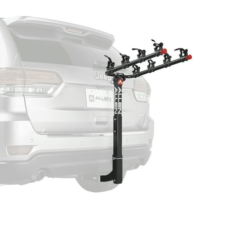 Allen Sports Deluxe 4-Bicycle Hitch Mounted Bike Rack Carrier,