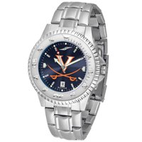 """Virginia Cavaliers NCAA Anochrome """"Competitor"""" Mens Watch (Steel Band)"""