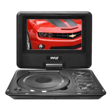 7'' Widescreen High Resolution Portable Monitor w/ Built-In DVD, MP3, MP4 Players, USB Port & SD Card Slot Readers