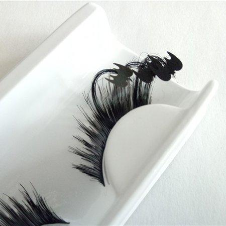 Black Eyes Halloween Makeup Tutorial (A pair Women 's Halloween Party Party Makeup Art Black Bats False)