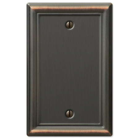 - Single Decorative Blank 1-Gang Decora Wall Switch Plate Outlet Cover, Oil Rubbed Bronze