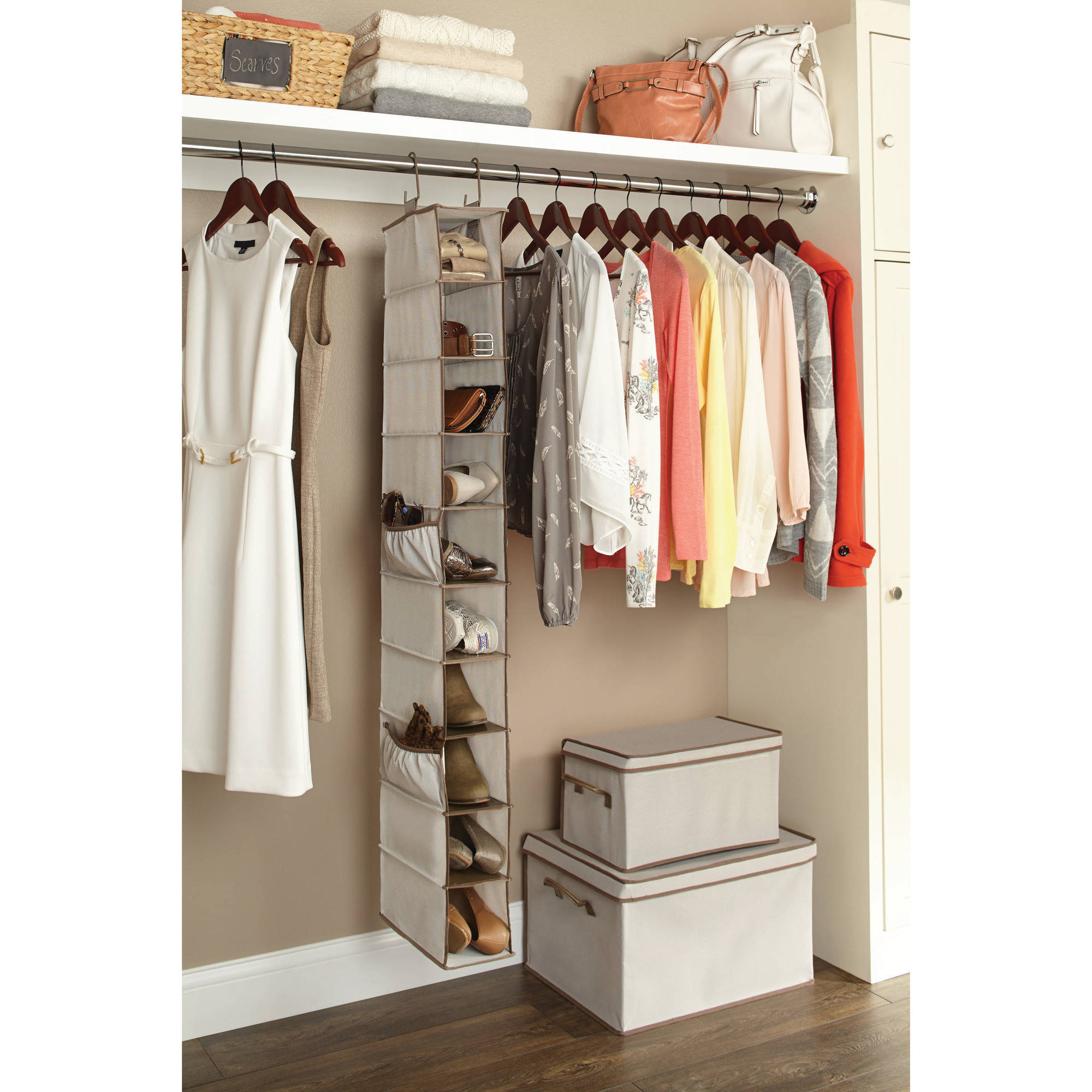 Better Homes And Gardens 10 Shelf Hanging Shoe Organizer
