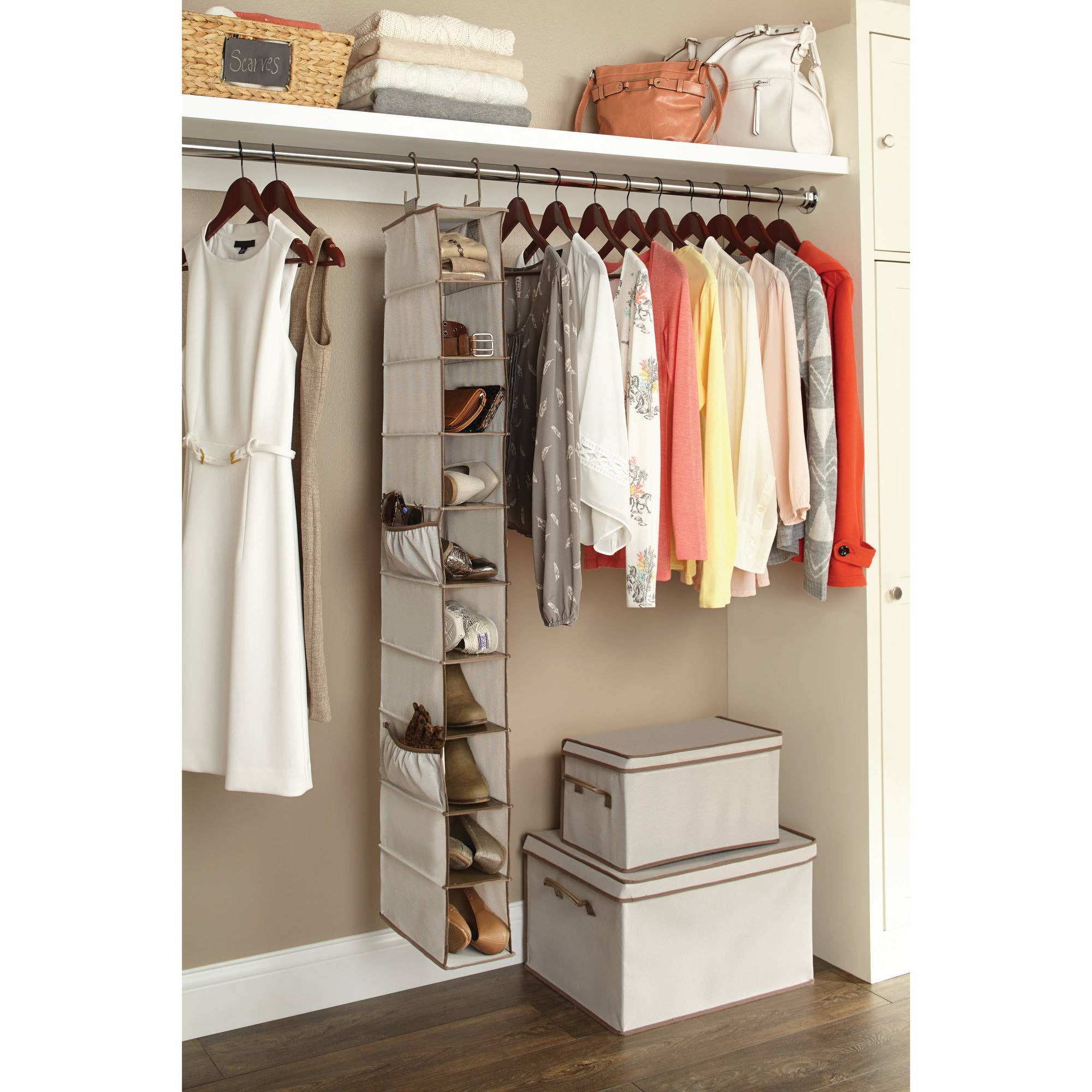 Honey Can Do Closet Storage Organizers Storage Designs