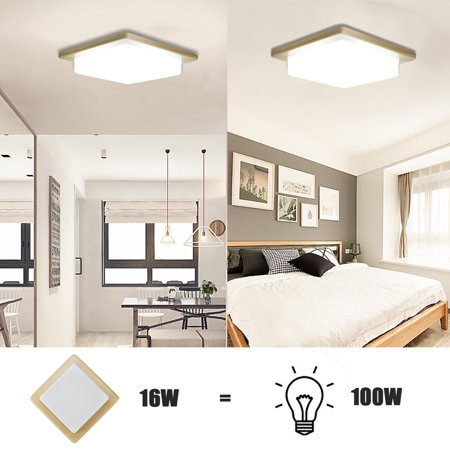 Pleasant Grtsunsea Home Square Led Ceiling Light Flush Mount Home Supplies 16W 1000Lm Ceiling Down Light Fixture Lamp For Home Kitchen Dining Living Room Interior Design Ideas Helimdqseriescom