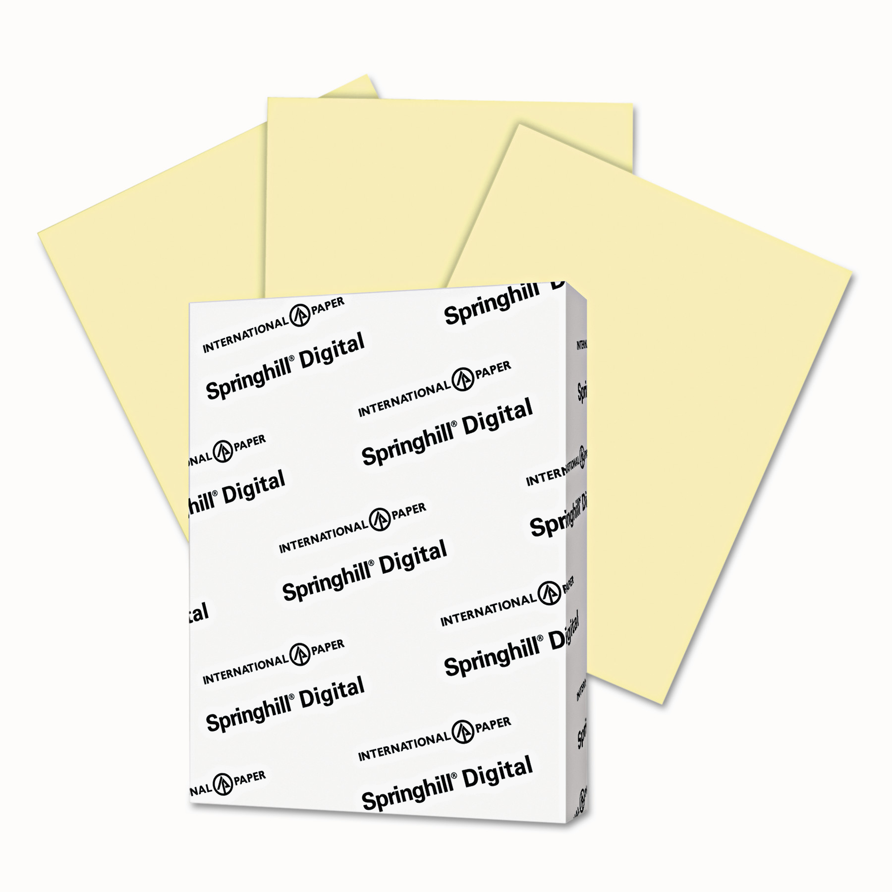 Springhill Digital Vellum Bristol Color Cover, 67 lb, 8 1/2 x 11, Canary, 250 Sheets/Pack -SGH036000