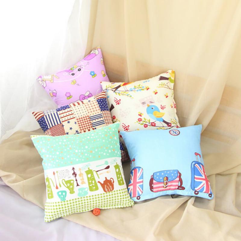 ENJOY 40*40 Cotton Linen Decorative Throw Pillow Case Seat Cushion Cover Home Decors