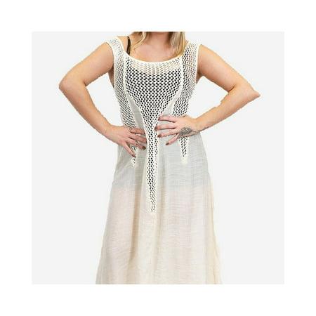 Zodaca Womens Summer Sleeveless Beach Cover Up Maxi Dress Long Sundress - Black - image 1 of 2