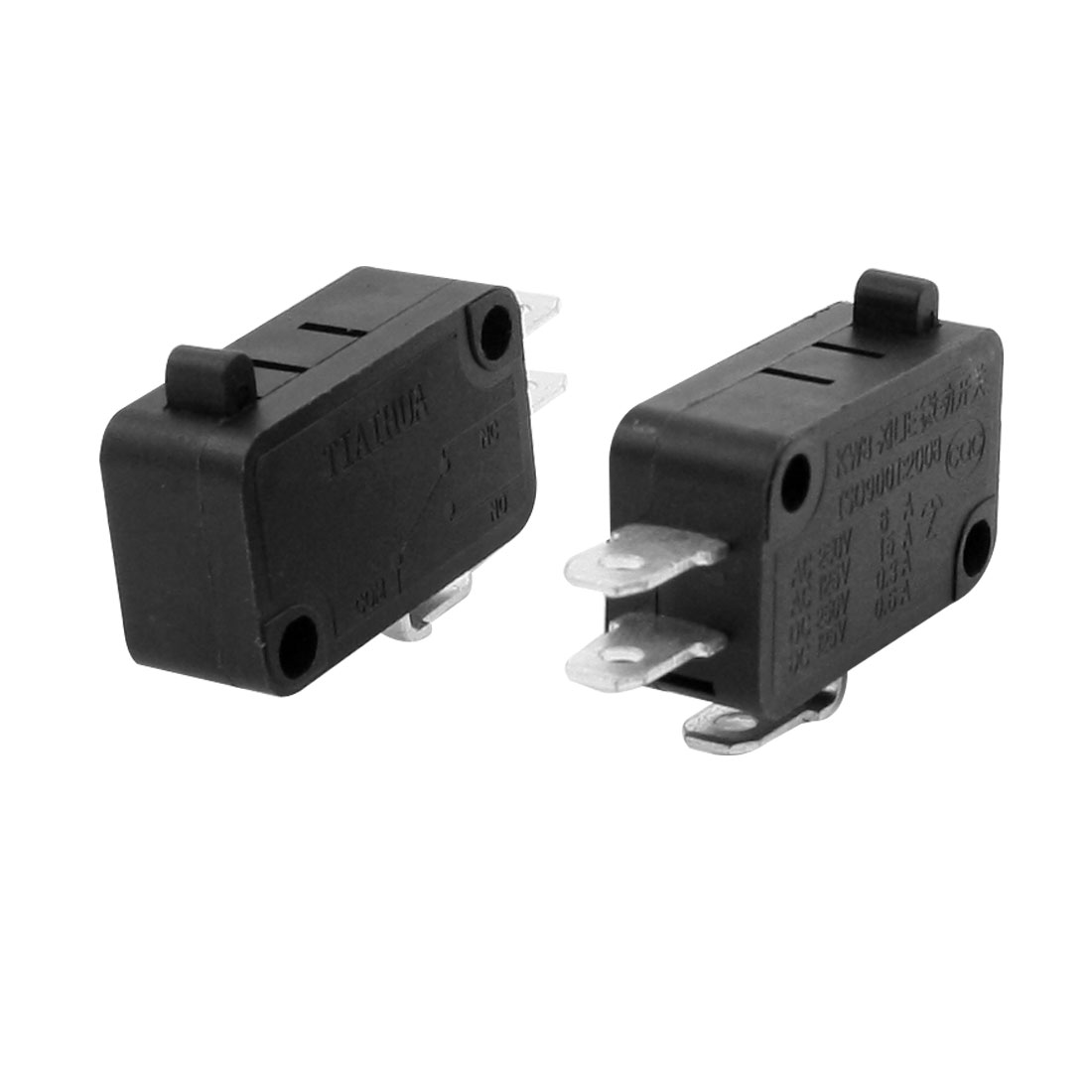 AC 250V/6A 125V/15A Srew Connector Actuator Micro Limit Switch Black 2 Pieces