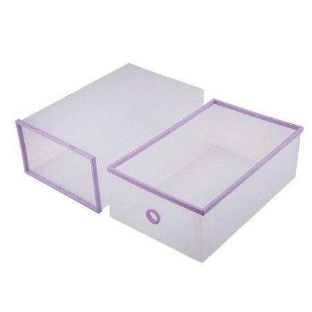 5PCS Storage Boxes Shoe Box Organizer, Shoe Storage Bag Box Double Plastic Shoe Storage Drawer (Quick Pick Double Hopper Bin)