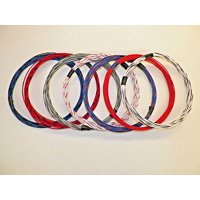 20 GXL HIGH TEMP AUTOMOTIVE WIRE 7 STRIPED COLORS 25 FEET EACH 175 FEET TOTAL