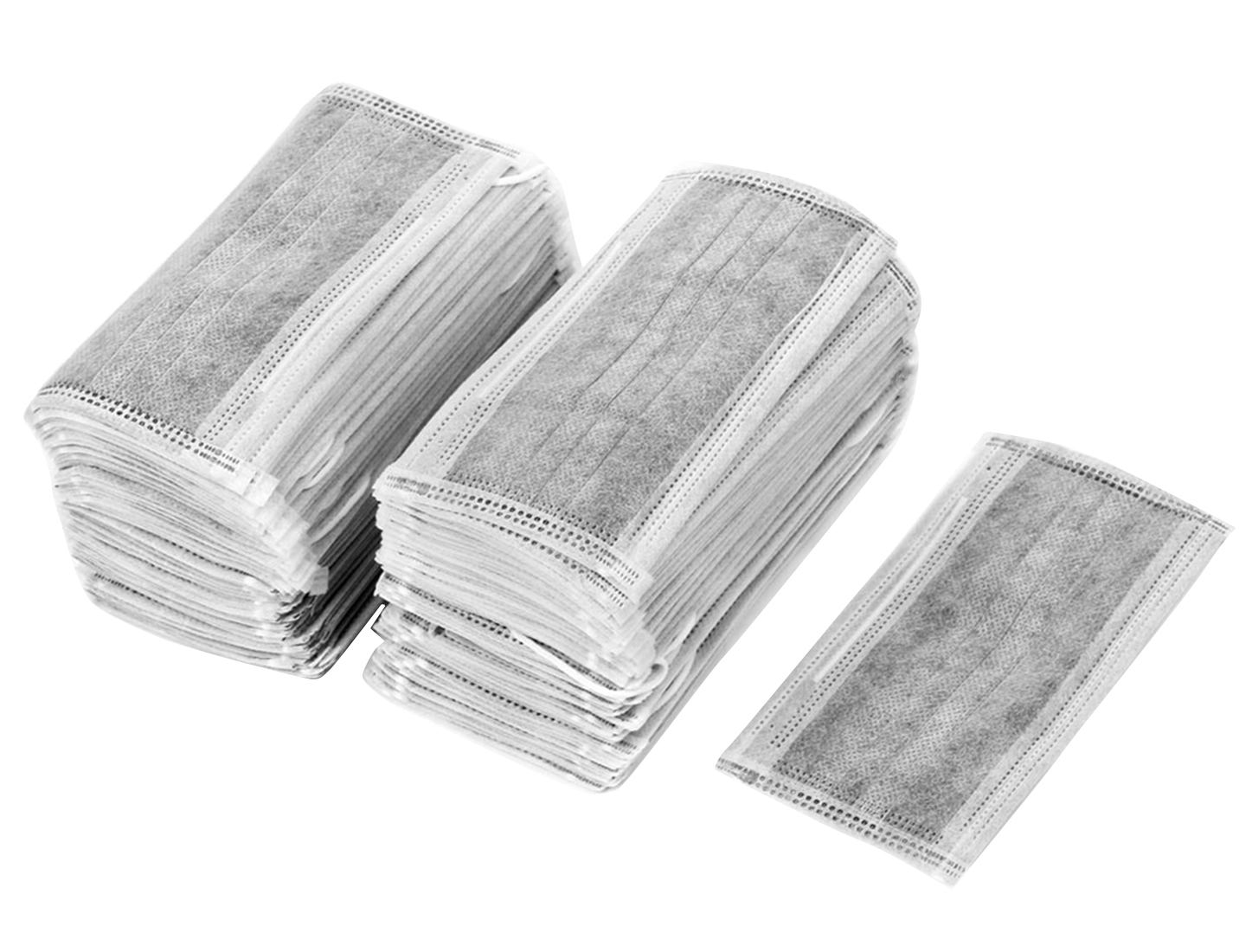 Unique Bargains 100 Pcs Stretchy Ear Loop Dustproof One-off Face Mask Gray by