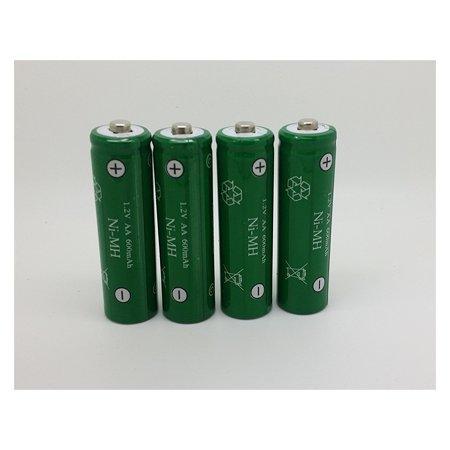8 Pack AA Batteries Ni-MH 600mAh 1.2V NiMH Rechargeable Batteries for Solar Products Aa Solar Rechargeable Battery