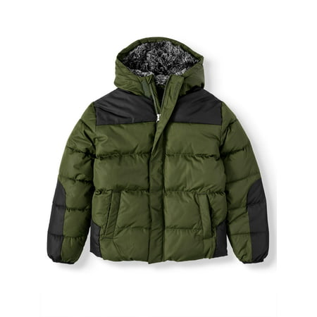 Wonder Nation Bubble Jacket (Little Boys, Big Boys, & Husky) (Leather Jacket Boys 8 20)