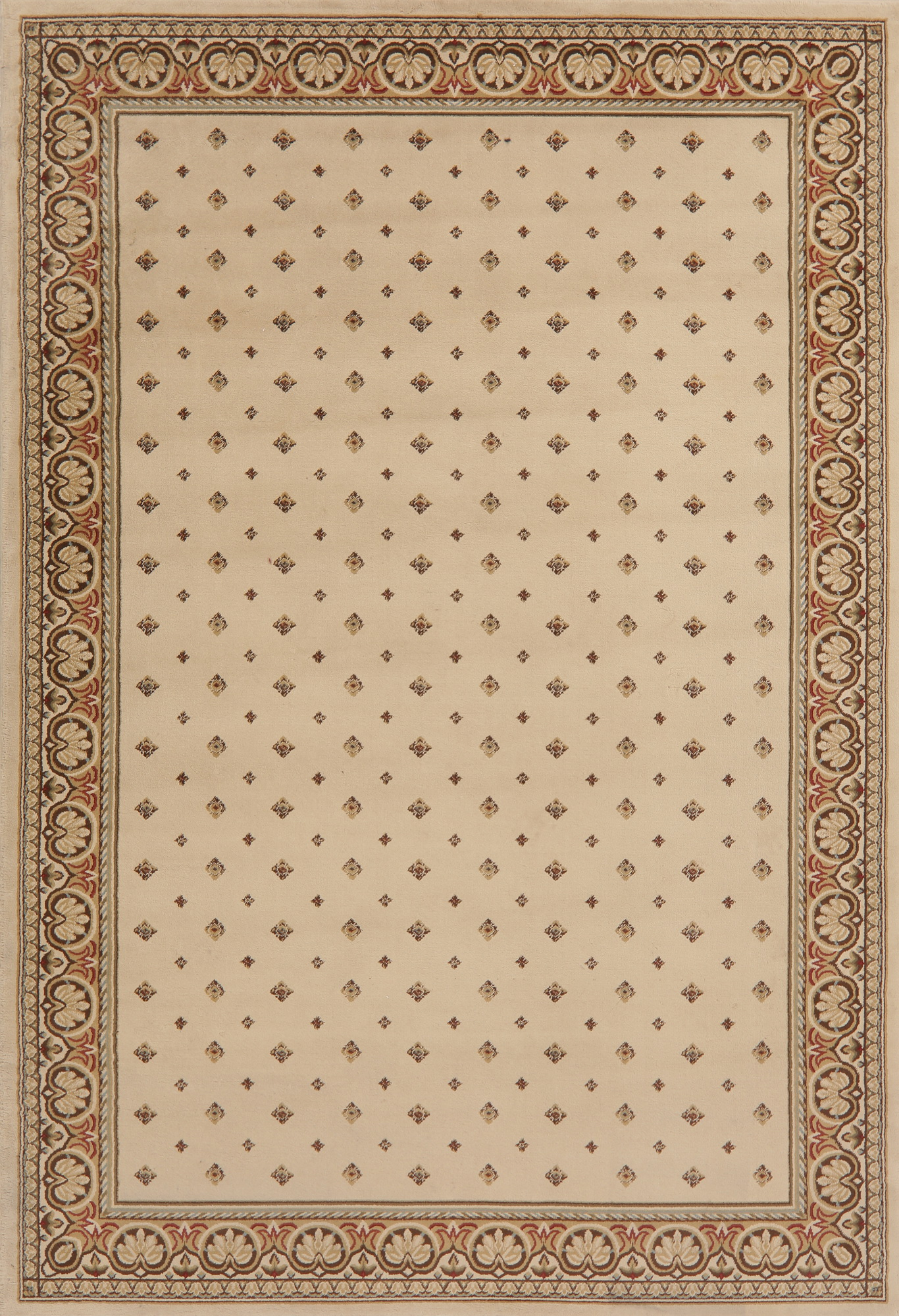 Rugselect Polka Turkish Carpet Border Dot Beige New Area