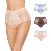 Rhonda Shear Lace Overlay Pin-Up Brief 3-pack-5835180K1480