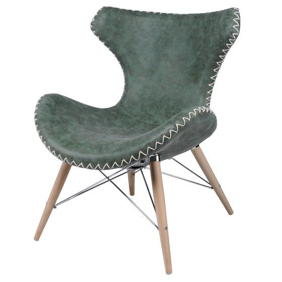 Ceylon Modern Rustic Wing Back Lounge Chair Multiple