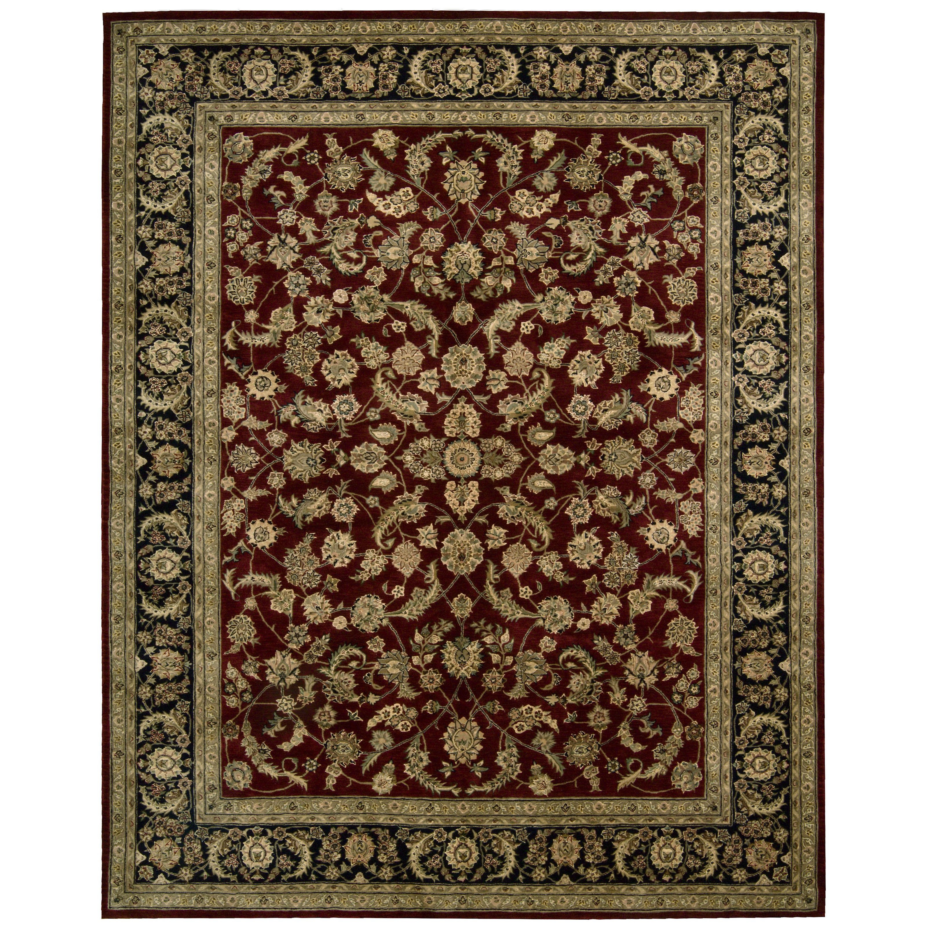 Nourison 2000 2002 Oriental Rug Burgundy-7.9 x 9.9 ft. by Overstock
