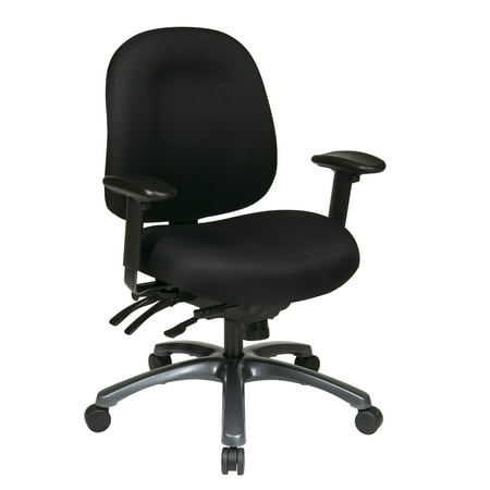 Titanium Finish Base (Pro-Line II™ Multi-Function Mid Back Chair with Seat Slider and Titanium Finish Base in Icon Black)